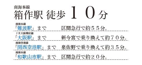 南海本線箱作駅(徒歩10分)