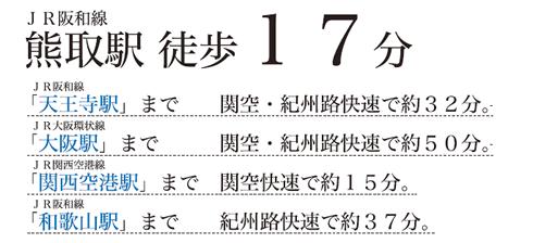 JR阪和線熊取駅(徒歩17分)