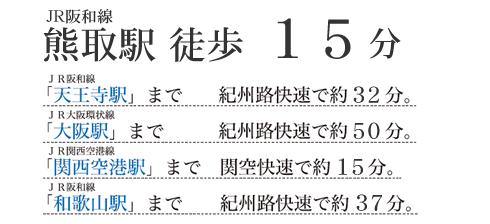 JR阪和線熊取駅 徒歩15分
