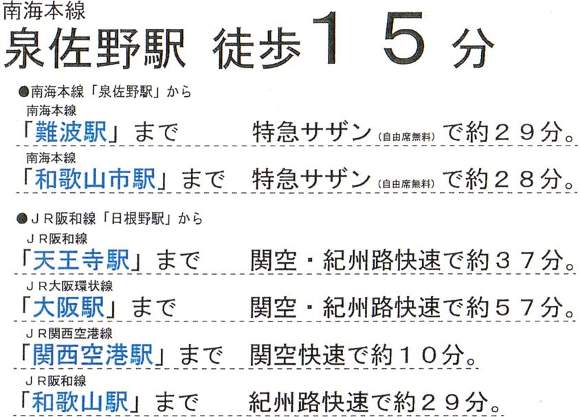 主要駅【プロムナード泉佐野・市場東】